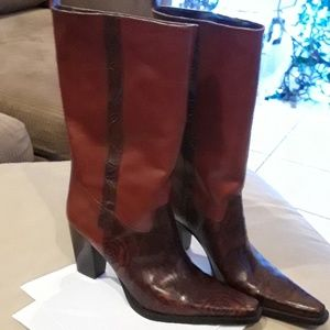 Antonio Melanie leather western boots NWOT size 9